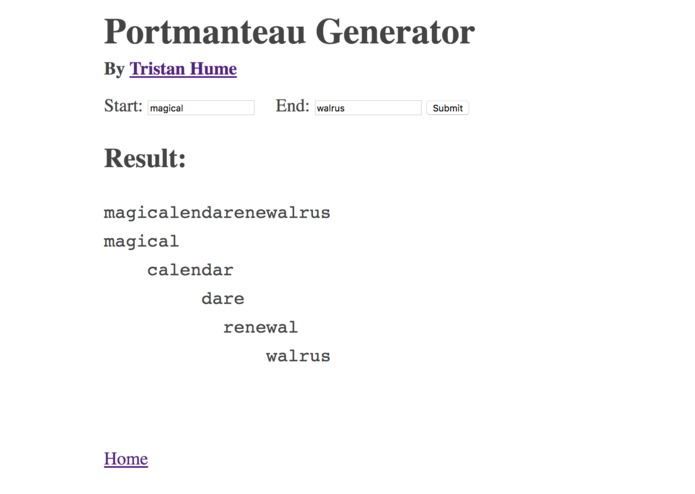Portmanteau Generator – screenshot 3