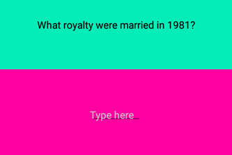 In the 80's quiz