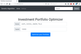 Investment Portfolio Optimiser