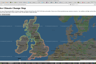 UK Climate Projections - Interactive Map
