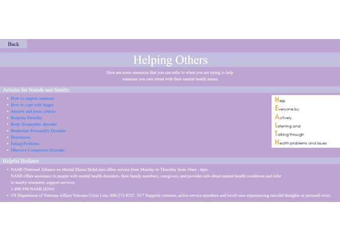 Mental Health Website – screenshot 6