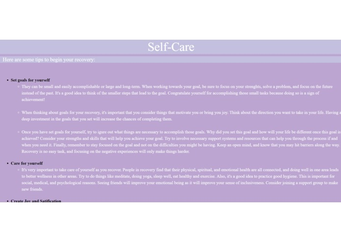 Mental Health Website – screenshot 7
