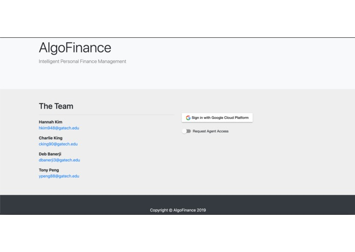AlgoFinance – screenshot 1
