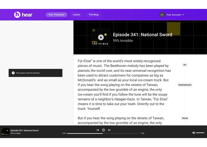hear: podcasts made accessible – screenshot 5