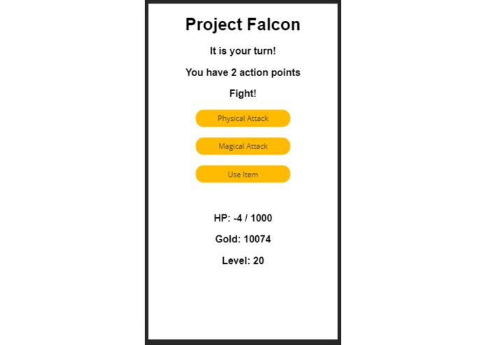 Project Lord Falcon  – screenshot 1