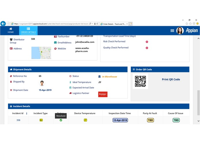 Track n Trace-IoT & Block Chain driven Supply Chain Solution – screenshot 3