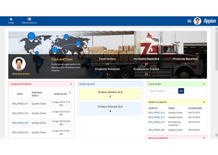 Track n Trace-IoT & Block Chain driven Supply Chain Solution – screenshot 4