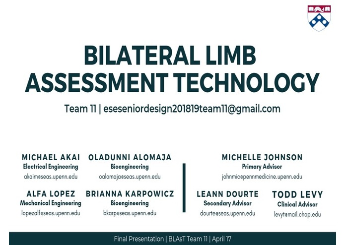 Team 11 Spring Bilateral Limb Assessment Technology – screenshot 1