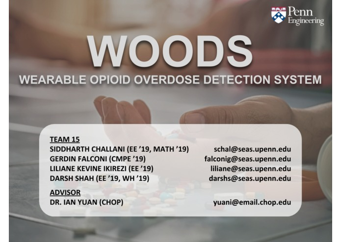 Wearable Opioid Overdose Detection System (WOODS) – screenshot 1