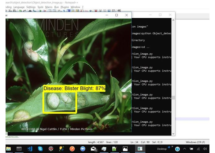 Identifying Pathological Diseases in Plants powered by TF2.0 – screenshot 6