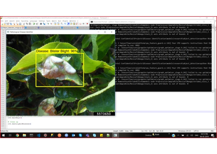 Identifying Pathological Diseases in Plants powered by TF2.0 – screenshot 28