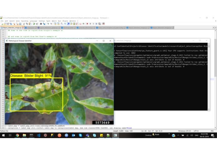 Identifying Pathological Diseases in Plants powered by TF2.0 – screenshot 40