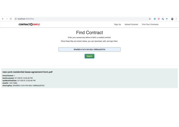 ContractSimple: A Real Estate contract management platform. – screenshot 5