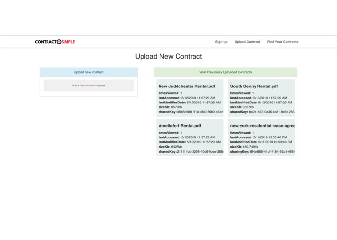 ContractSimple: A Real Estate contract management platform. – screenshot 3