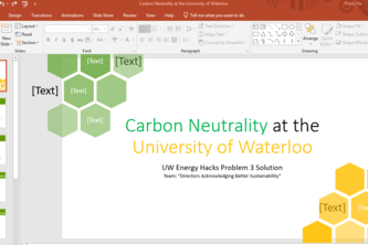 Carbon Neutrality at the University of Waterloo
