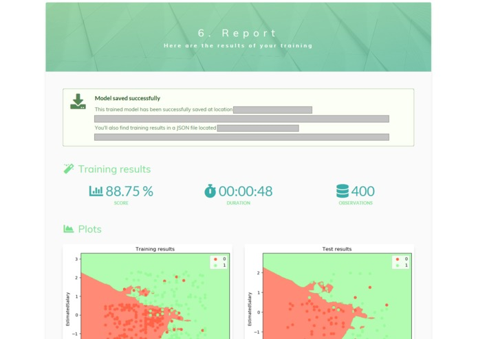 HandyML: Machine learning for non-datascientists – screenshot 9