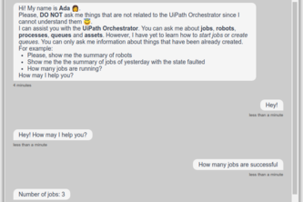 UiPath Orchestrator Chatbot