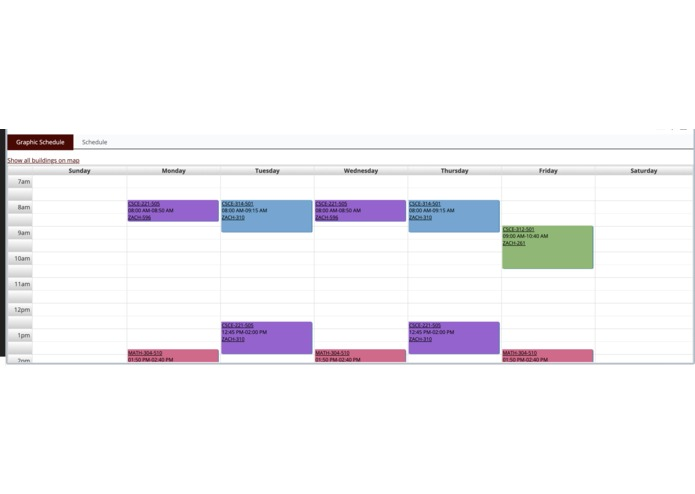 Legacy Schedule – screenshot 1