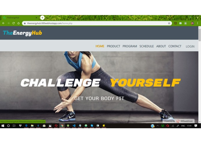 TheEnergyHub is a Gym project – screenshot 2