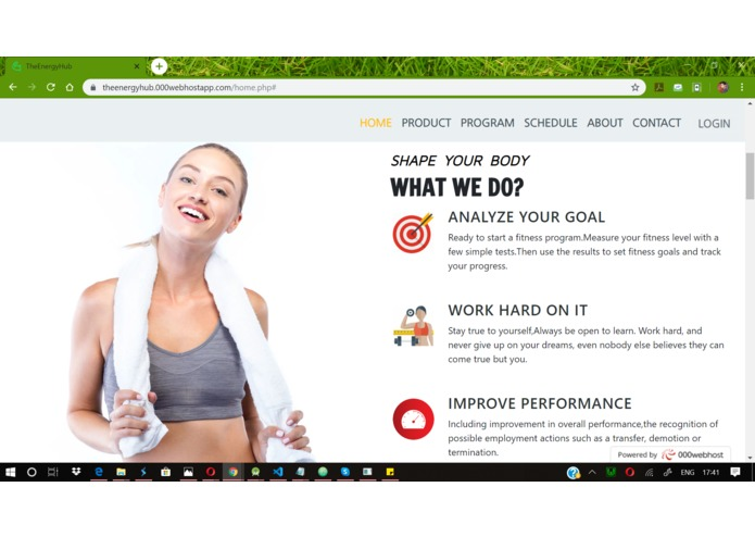 TheEnergyHub is a Gym project – screenshot 3