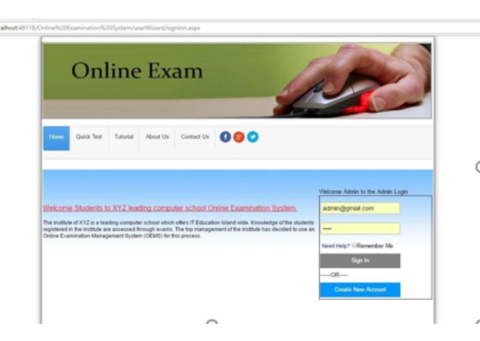 Online exam system  – screenshot 14
