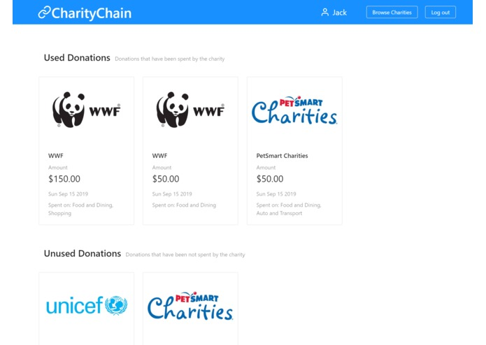 CharityChain – screenshot 3
