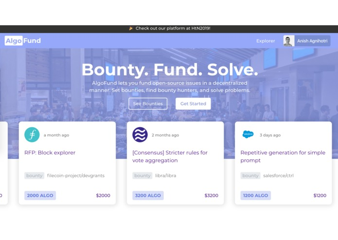 AlgoFund – screenshot 1