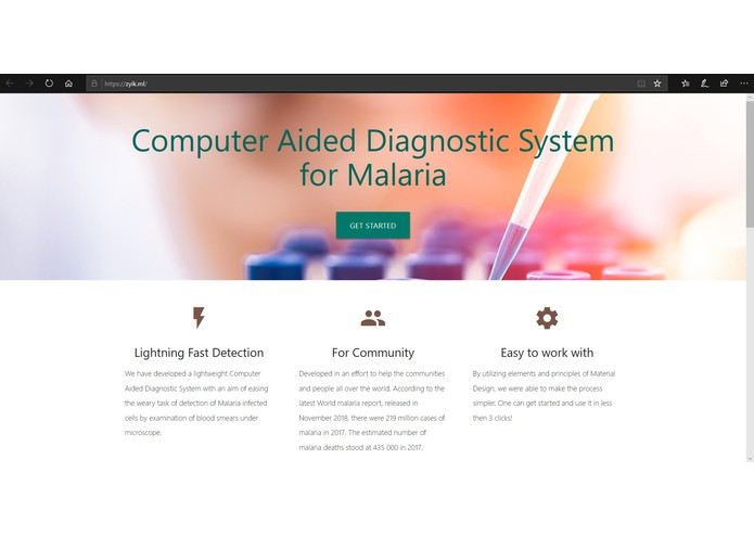 Computer Aided Diagnostic System for Malaria – screenshot 1