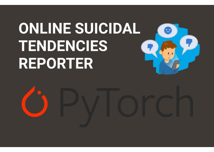Online suicidal tendencies reporter – screenshot 1