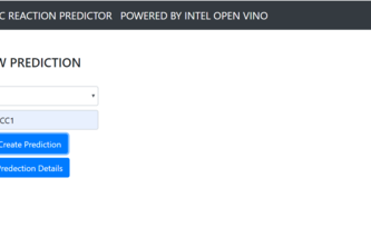 Organic Compounds predictor using Open VINO