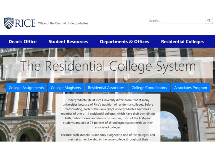 Res College Redesign – screenshot 1