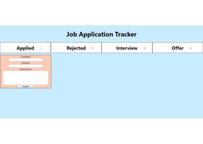 job-app-tracker – screenshot 1