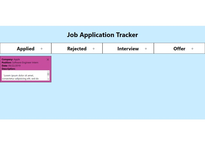 job-app-tracker – screenshot 2