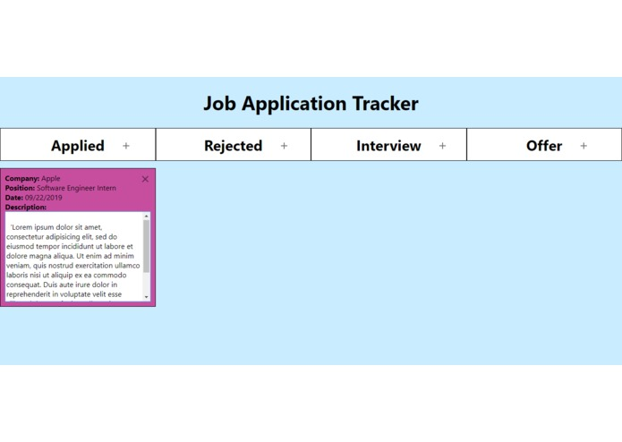 job-app-tracker – screenshot 3