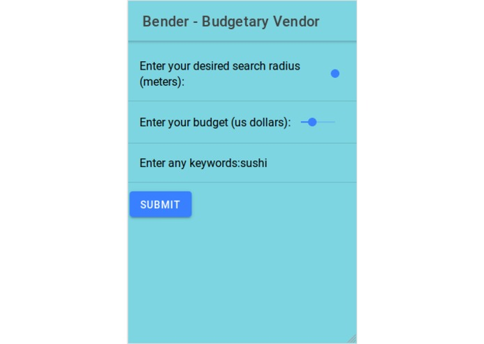 Bender - Budgetary Vendor – screenshot 8