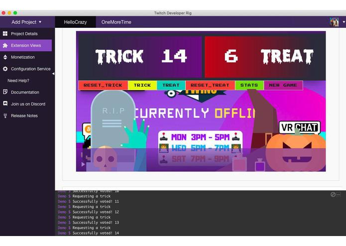 Trick Or Treat (Twitch Extension) – screenshot 1