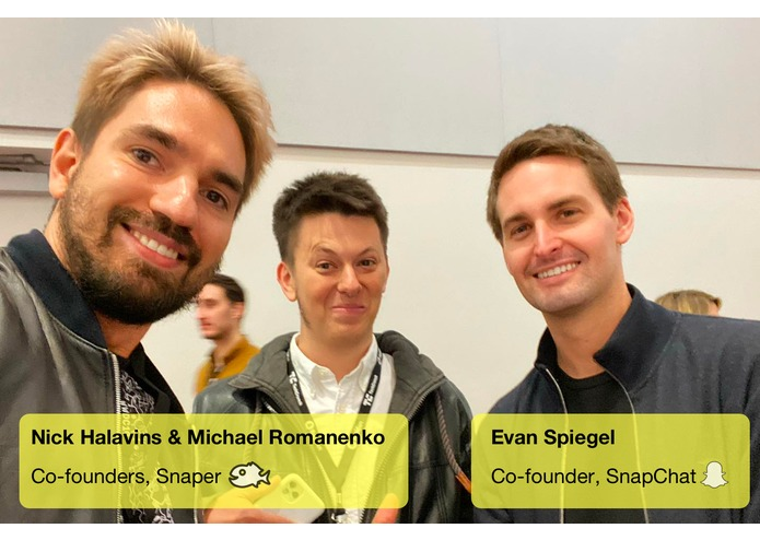 Snaper - Finalist of TechCrunch Disrupt Hackathon 2019 – screenshot 1