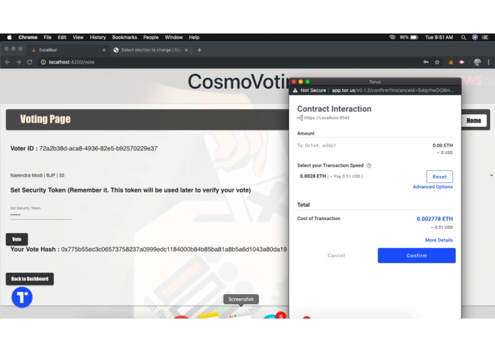 CosmoVoting – screenshot 9