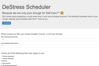 DeStress Scheduler