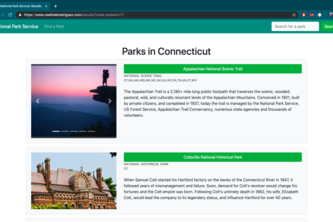 National Park Service Web App