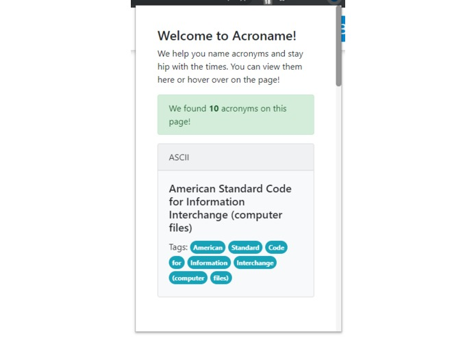 AcroName - Your personal acronym assistant – screenshot 1