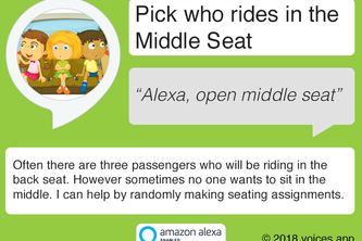 Pick who rides in the Middle Seat