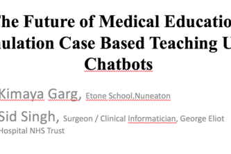 Simulation Case Based Medical Teaching Using Chatbots