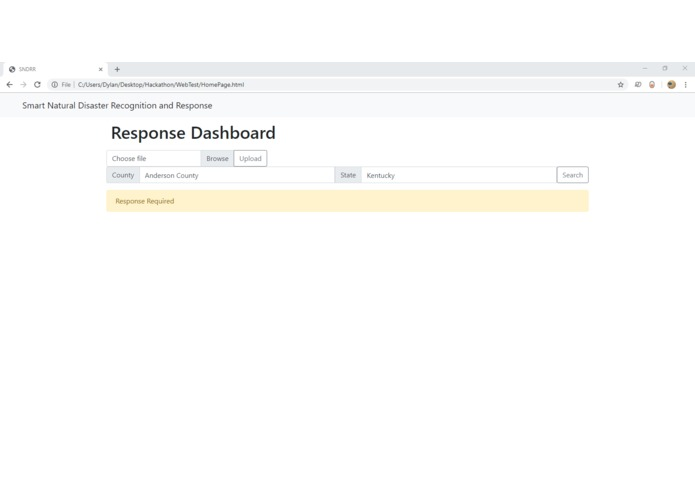 Smart Natural Disaster Recognition and Response (SNDRR) – screenshot 1