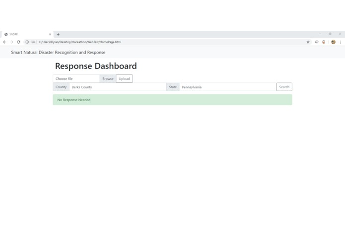 Smart Natural Disaster Recognition and Response (SNDRR) – screenshot 3