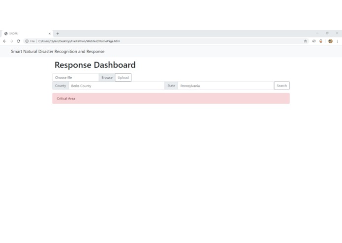 Smart Natural Disaster Recognition and Response (SNDRR) – screenshot 4