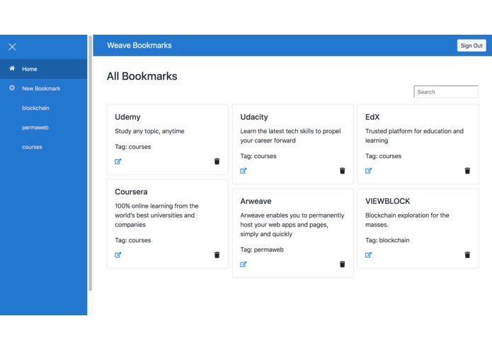 Weave Bookmarks – screenshot 2