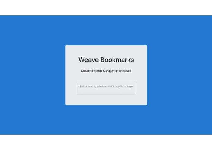 Weave Bookmarks – screenshot 1