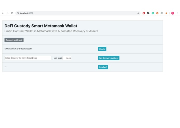 DeFi Custody Wallet – screenshot 1