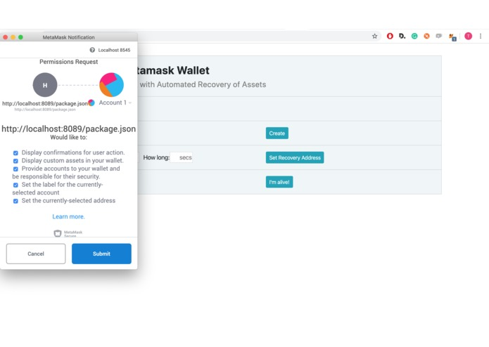 DeFi Custody Wallet – screenshot 3